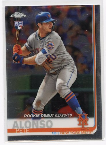 Photo of 2019 Topps Chrome Update #52 Pete Alonso Rookie Debut