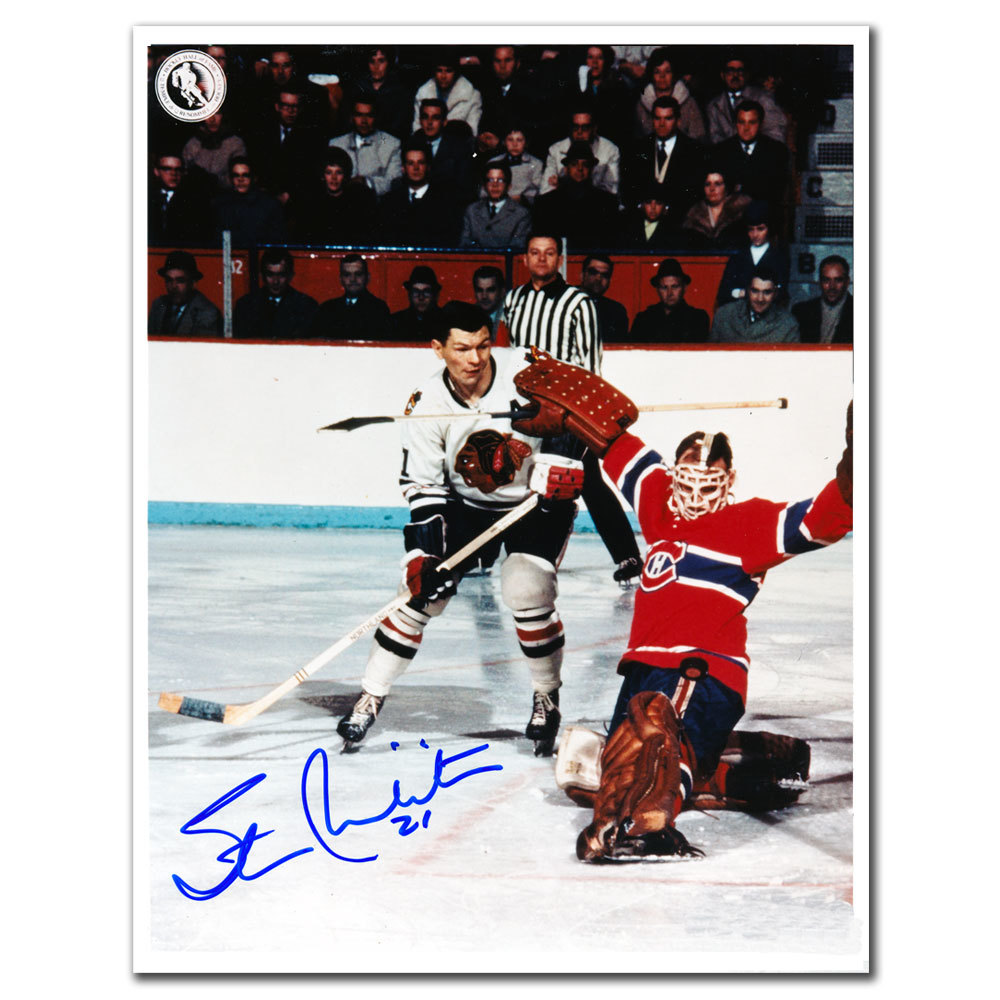 Stan Mikita Chicago Blackhawks vs Hodge Autographed 8x10