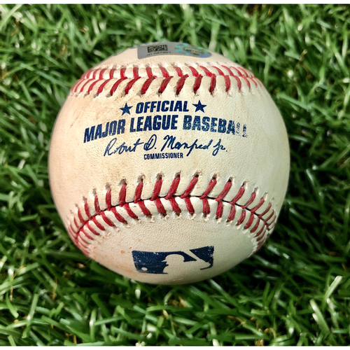 Photo of Game Used Baseball: Austin Meadows single off Lucas Giolito - July 20, 2019 v CWS