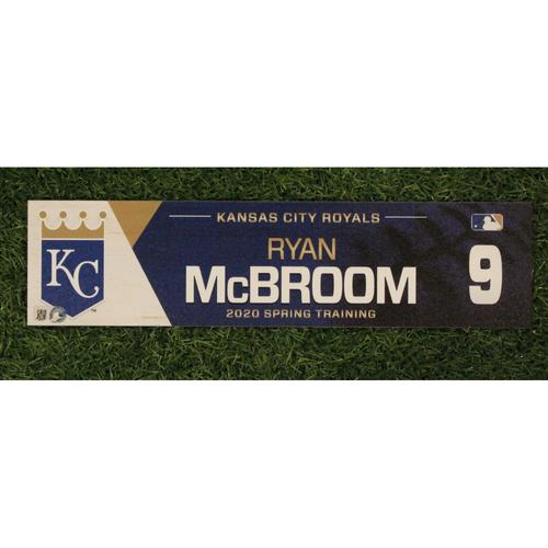Game-Used Spring Training Locker Tag: Ryan McBroom #9