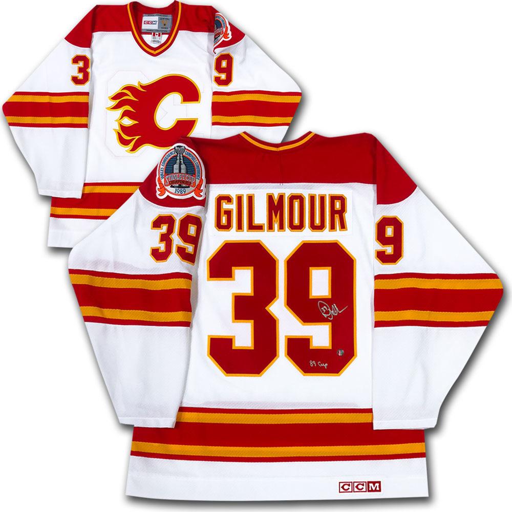 Doug Gilmour Autographed Calgary Flames Vintage CCM Jersey w/89 CUP Inscription