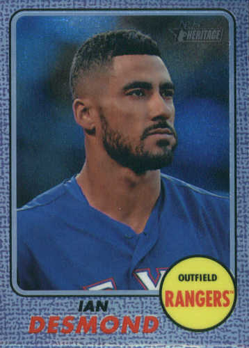 Photo of 2017 Topps Heritage Chrome Purple Refractors #THC458 Ian Desmond
