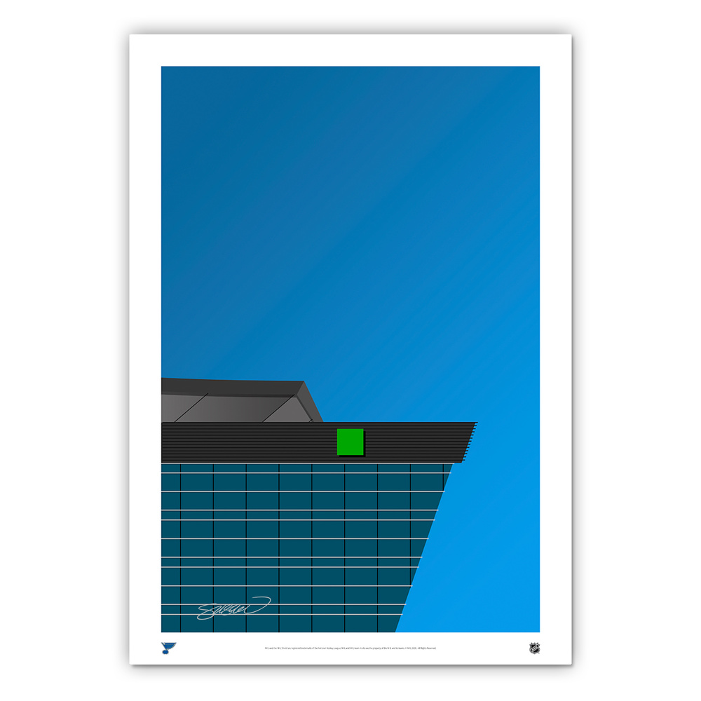 St. Louis Blues Minimalist Enterprise Center Fine Art Print by S. Preston