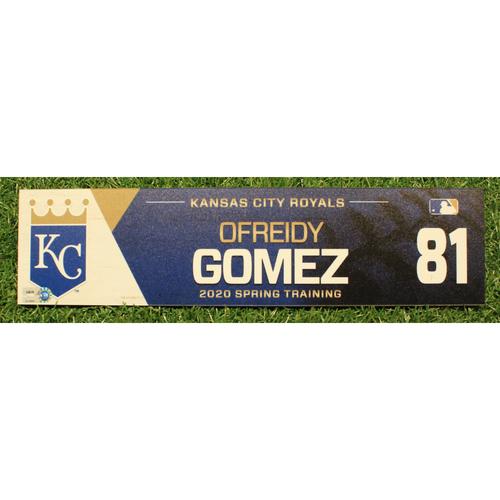 Photo of Game-Used 2020 Spring Training Locker Tag: Ofreidy Gomez #81