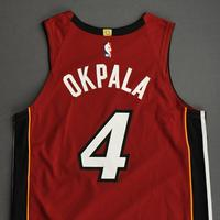 KZ Okpala - Miami Heat - Game-Worn - Statement Edition Jersey - Christmas Day 2020