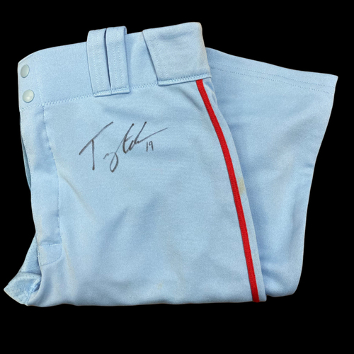 Tommy Edman Autographed Team Issued Road Alternate Pants (Size 33)