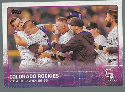 Photo of 2015 Topps #168 Colorado Rockies