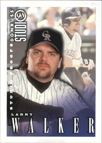 Photo of 1998 Studio Silver Press Proofs #115 Larry Walker