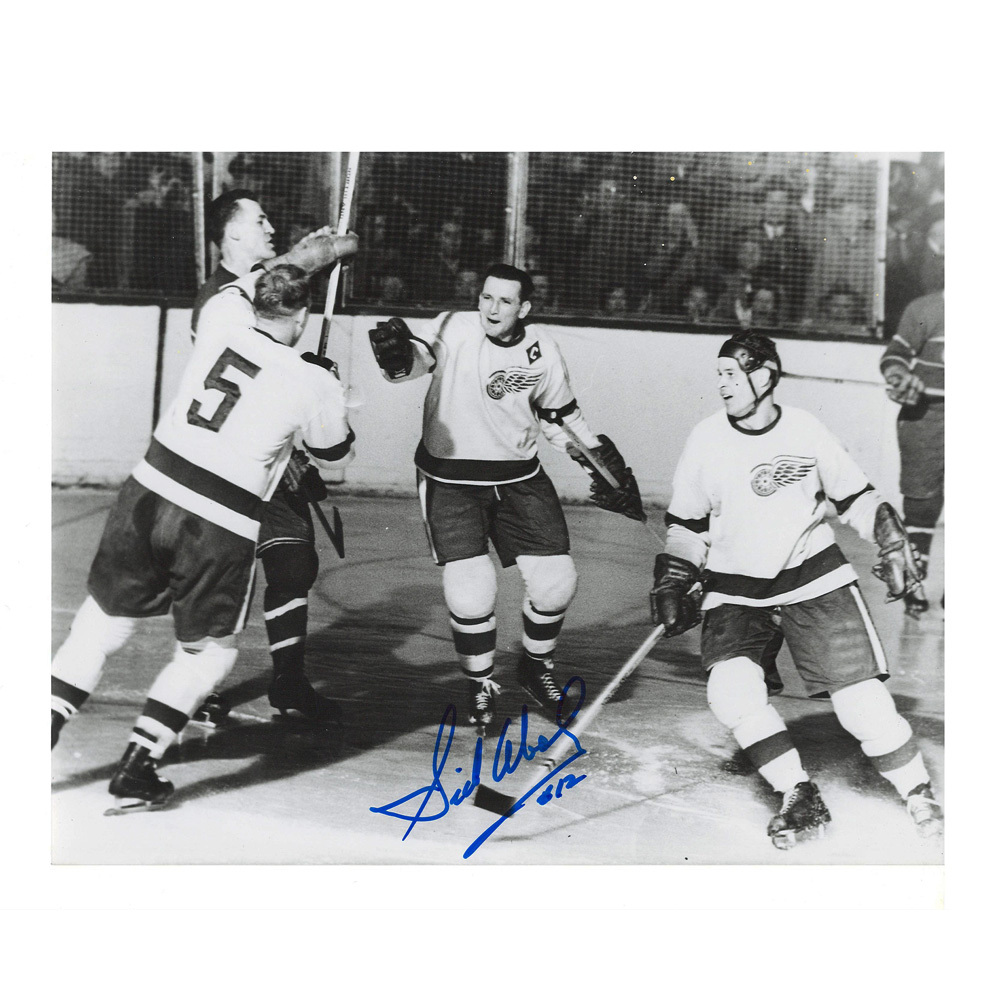 SID ABEL Signed Vintage Detroit Red Wings 8 X 10 Photo - 70244