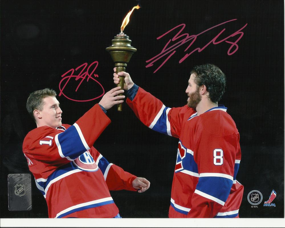 Brendan Gallagher & Brandon Prust DUAL Signed Montreal Canadiens TORCH 8x10