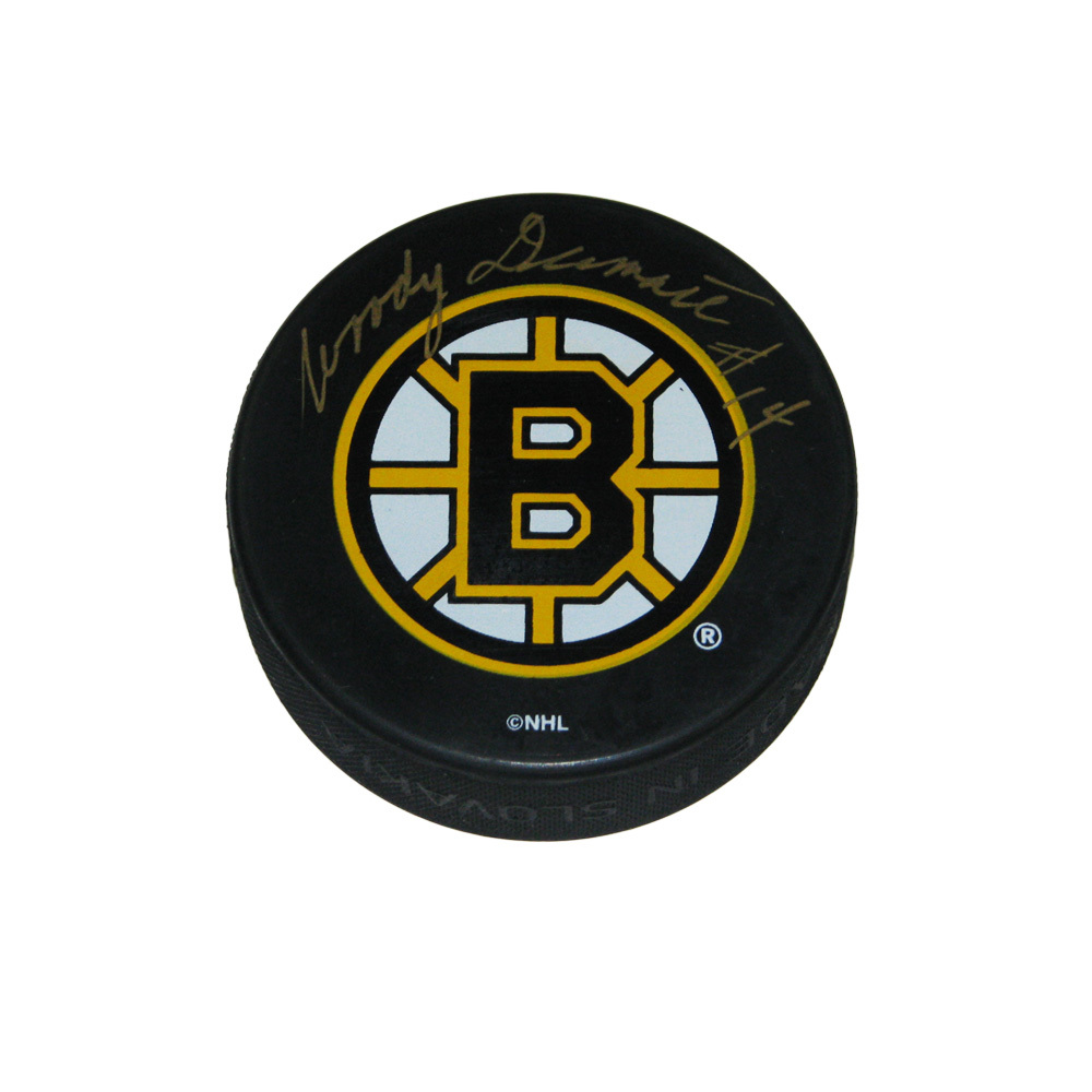 WOODY DUMART Signed Boston Bruins Puck