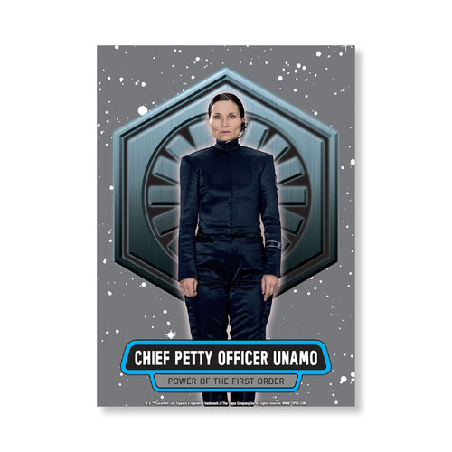 Chief Petty Officer Unamo 2016 Star Wars The Force Awakens Chrome Metal Poster - # to 99