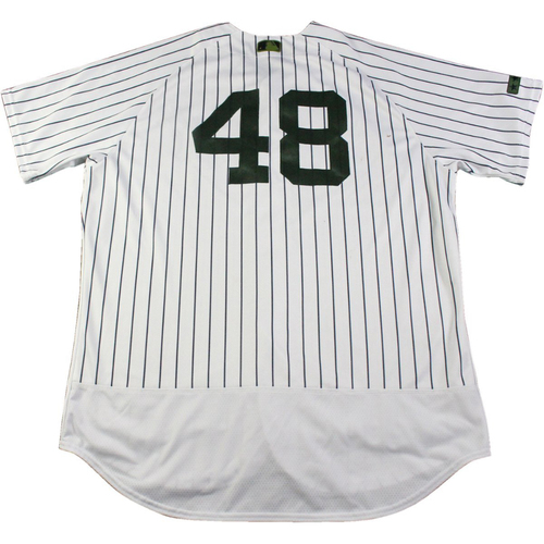 Photo of Chris Carter New York Yankees Game-Used #48 Memorial Day Weekend Pinstripe Jersey (5/28/2017) (Size 50)
