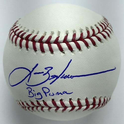 "Photo of Lance Berkman ""Big Puma"" Autographed Baseball"