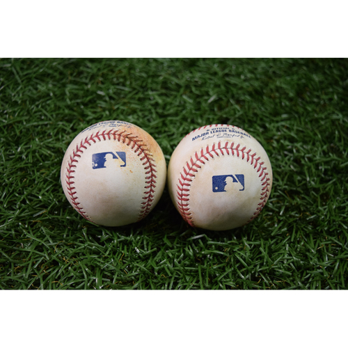 Photo of Game Used Baseball Package #2: September 15, 2017 - Peter Bourjos Triple and Mitch Moreland Single