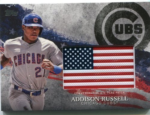 Photo of 2018 Topps Independence Day U.S. Flag Relics #IDMLAR Addison Russell