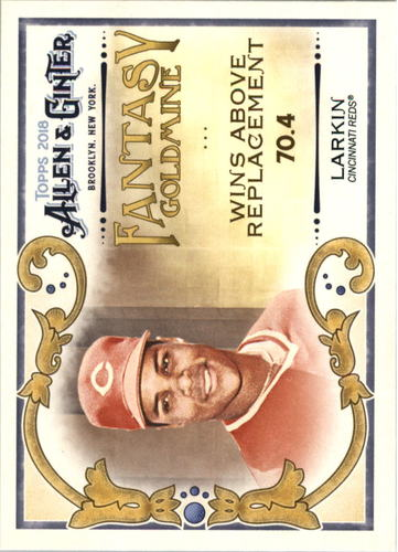 Photo of 2018 Topps Allen and Ginter Fantasy Goldmine #FG26 Barry Larkin
