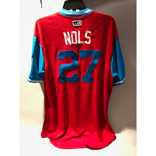 "Photo of Philadelphia Phillies 2018 Little League Classic Game-Used Jersey - Aaron ""Nols"" Nola - 8/19/2018"