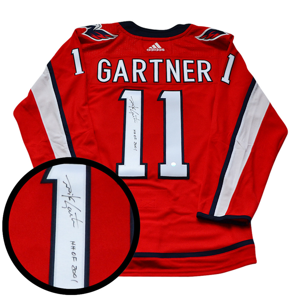 Mike Gartner Signed Jersey Capitals Pro Red 2017-2019 Adidas Insc
