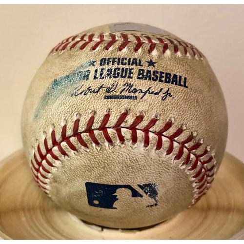 Photo of Game-Used Baseball: Miami Marlins at Milwaukee Brewers (4/29/16) - Ichiro Suzuki 500th Career Stolen Base Game