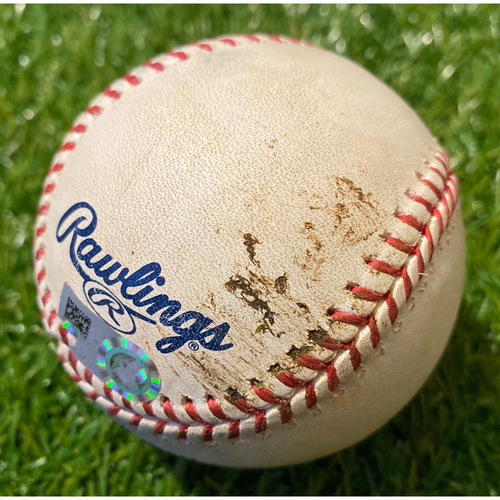 Photo of Game-Used Baseball: Jeimer Candelario 50th Career Double (9/3/19 - DET @ KC)