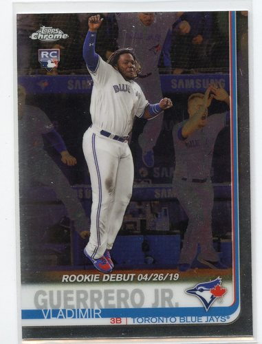 Photo of 2019 Topps Chrome Update #58 Vladimir Guerrero Jr. Rookie Debut