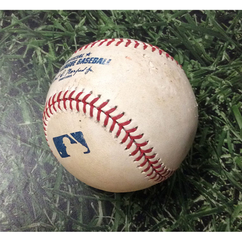 Photo of Game Used Baseball 07/15/19 ATL@MIL - Max Fried - Ryan Braun: Strikeout