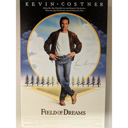 Photo of Kevin Costner Autographed Field of Dreams Movie Poster