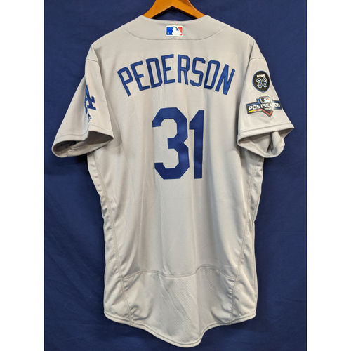Photo of Joc Pederson Team Issued 2019 Postseason Road Jersey