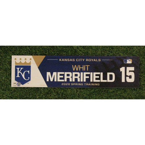 Photo of Game-Used Spring Training Locker Tag: Whit Merrifield #15
