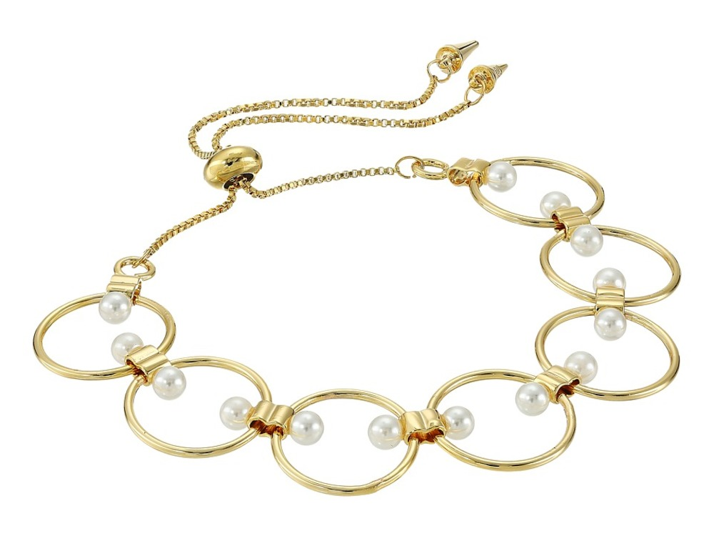 Photo of Rebecca Minkoff - Encircled Floating Pearls Pulley Bracelet