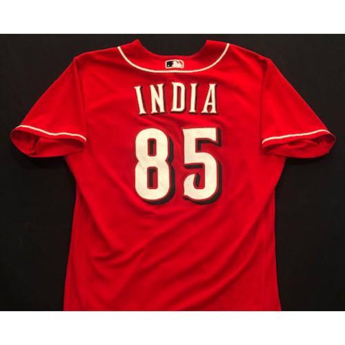 Photo of Jonathan India -- 2020 Spring Training Jersey -- Team-Issued -- Size 44