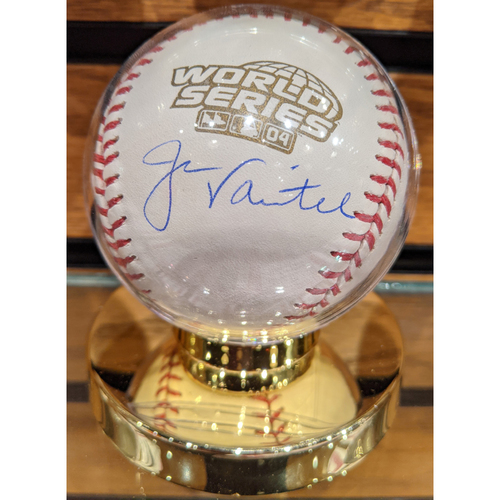 Photo of Jason Varitek Autographed 2004 World Series Baseball
