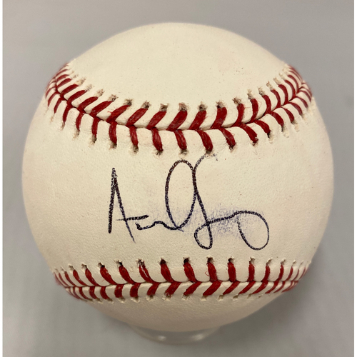 Photo of Giants Community Fund - Smudged Autographed Baseball signed by #59 Andrew Suarez