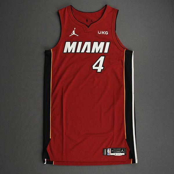 Image of KZ Okpala - Miami Heat - Game-Worn - Statement Edition Jersey - Christmas Day 2020