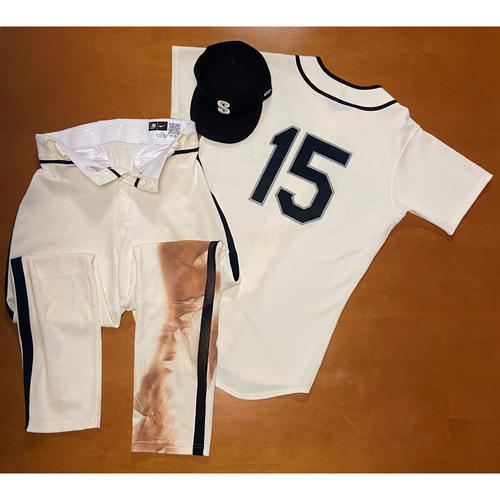Photo of 2021 Game Used Seattle Steelheads Salute to Negro Leagues Uniform - #15 Kyle Seager