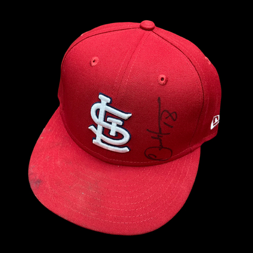 Carlos Martinez Autographed Game Used Home Cap (7/25/2020, PIT @ STL) (Size 6 7/8)