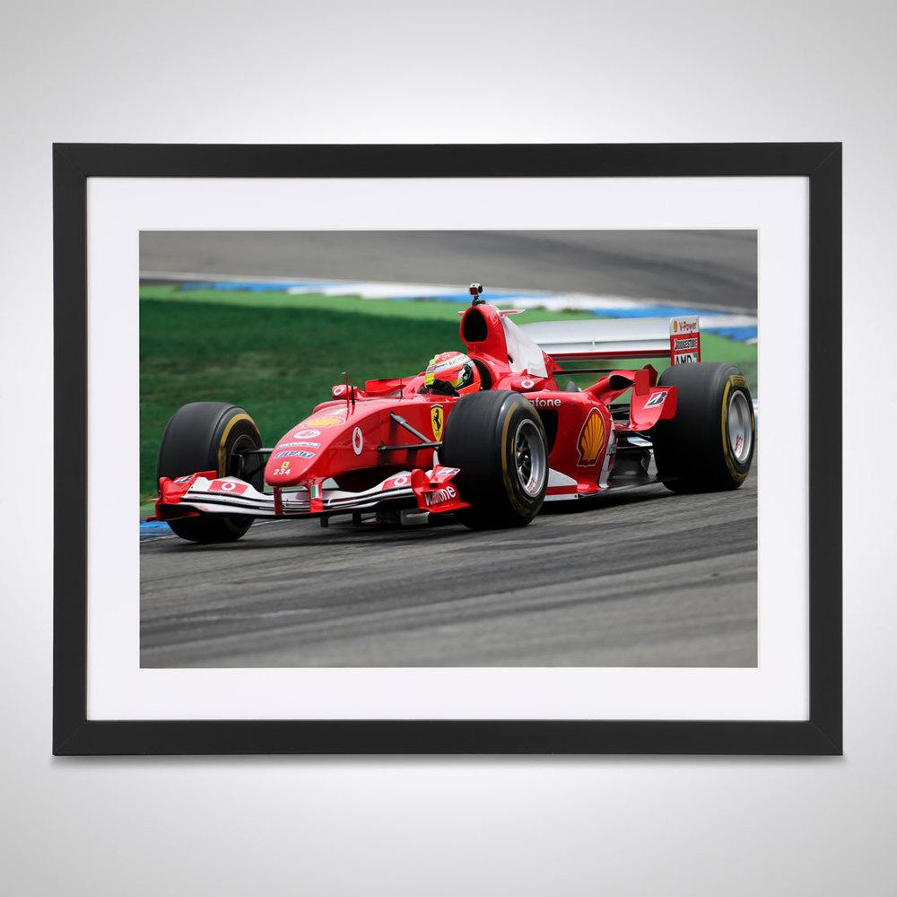Mick Schumacher 2019 Ferrari Test Germany - James Moy Print