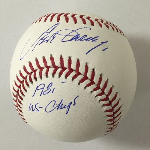 "Photo of Steve Garvey Autographed ""1981 WS Champs"" Baseball"