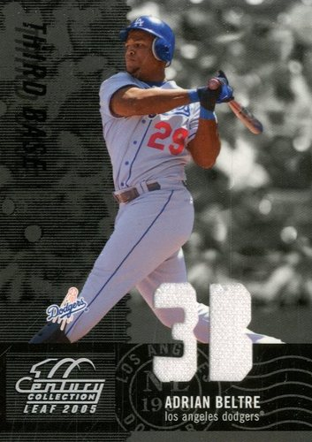 Photo of 2005 Leaf Century Material Fabric Position #80 Adrian Beltre Jsy/250