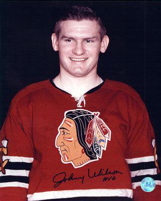 JOHNNY WILSON Chicago Blackhawks SIGNED 8x10 Photo