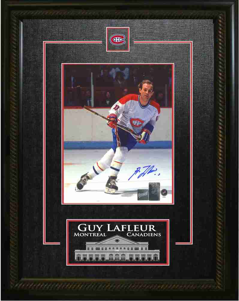 Lafleur,G Signed 8x10 Etched Mat White Action V