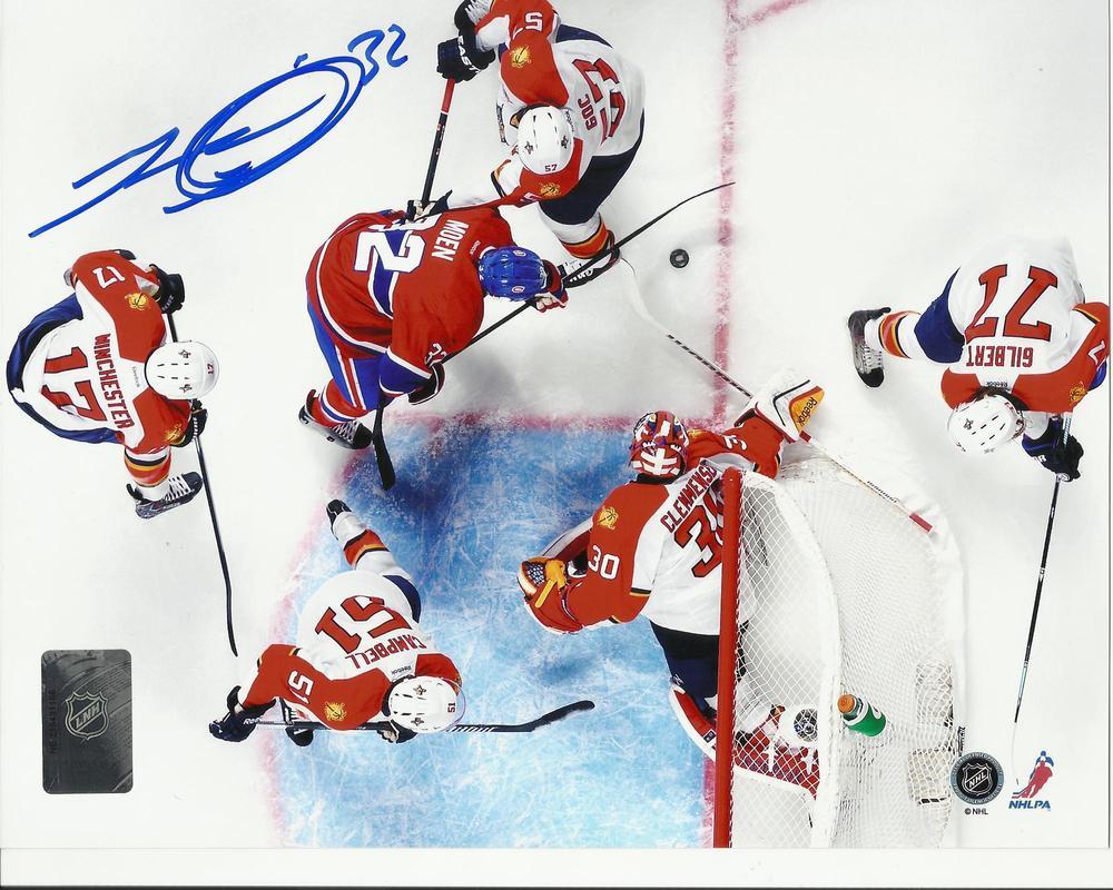 Travis Moen Signed Montreal Canadiens SOLO EFFORT 8x10