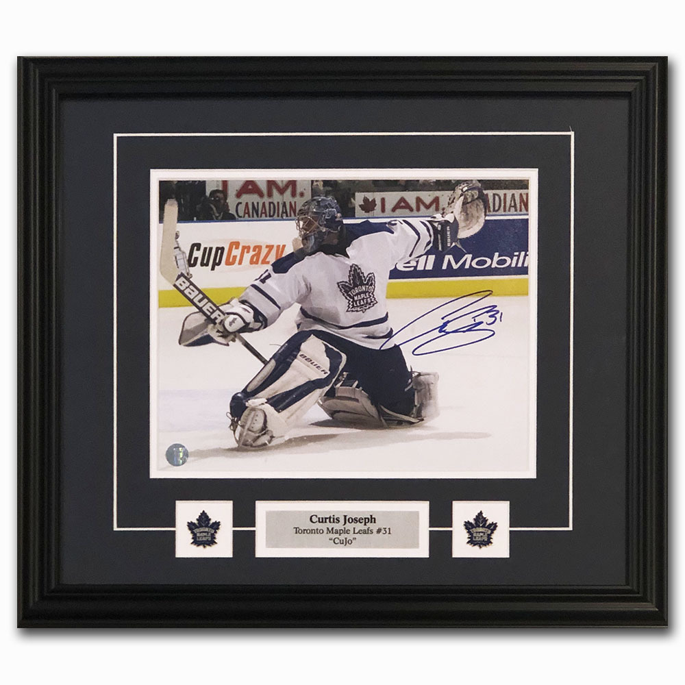 Curtis Joseph Autographed Toronto Maple Leafs Framed 8X10 Photo