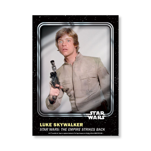 Luke Skywalker 2016 Star Wars Card Trader Base Poster - # to 99
