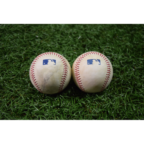 Photo of Game Used Baseball Package #3: September 15, 2017 - Matt Barnes Strike Out of Peter Bourjos and Xander Bogaerts Single