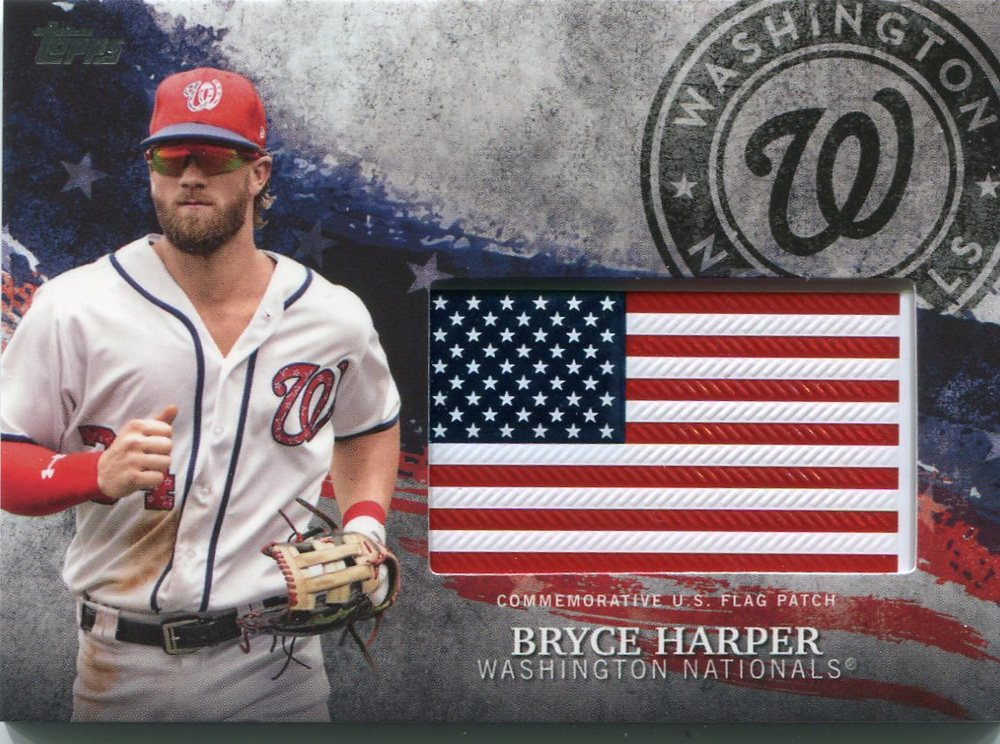 2018 Topps Independence Day U.S. Flag Relics #IDMLBH Bryce Harper