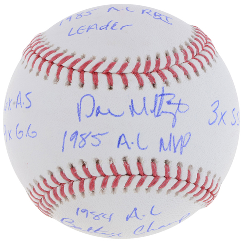 Photo of Don Mattingly New York Yankees Autographed Baseball with Multiple Inscriptions - #1 in L. E. of 23