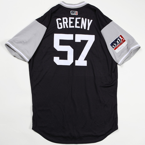 "Photo of Chad ""Greeny"" Green New York Yankees Game-Used Jersey 2018 Players' Weekend Jersey"