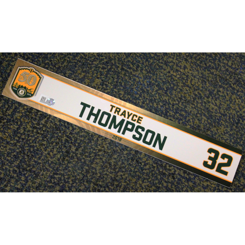 Photo of Trayce Thompson 2018 Locker Nameplate